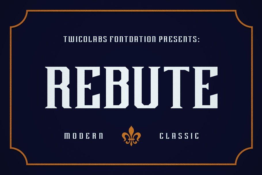 Rebute Typeface