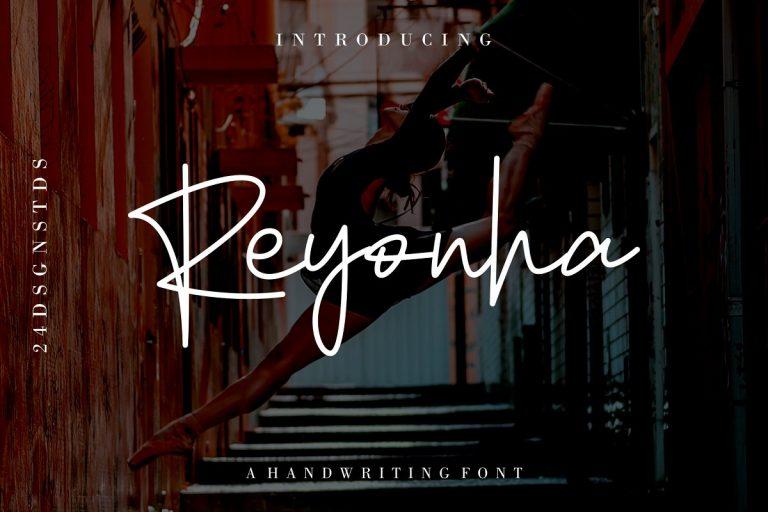 Reyonha Handwriting Font