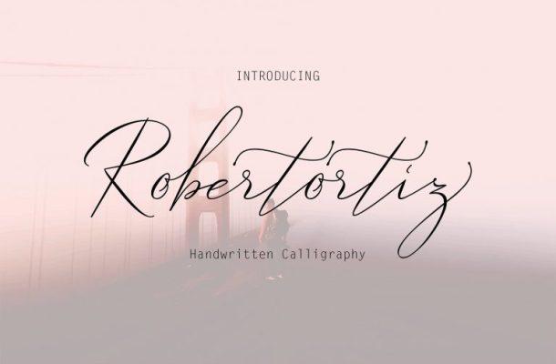 Robertortiz Signature Font