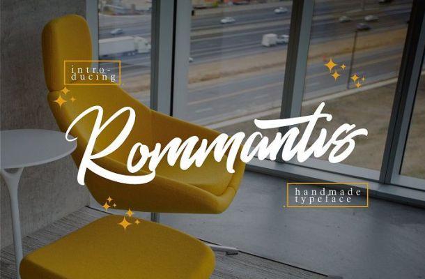 Rommantis Script Font