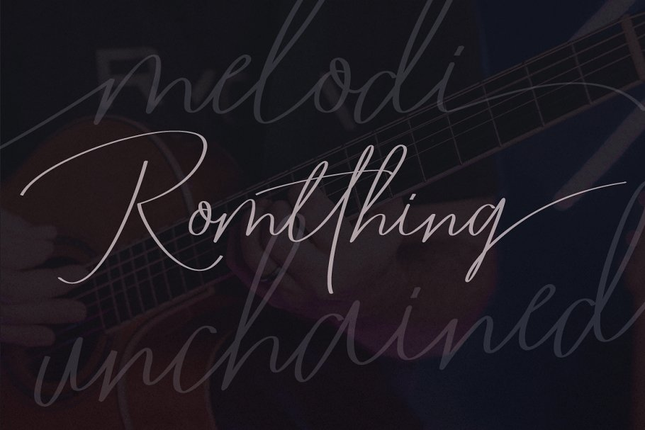Romtthing Girl Signature Font-2
