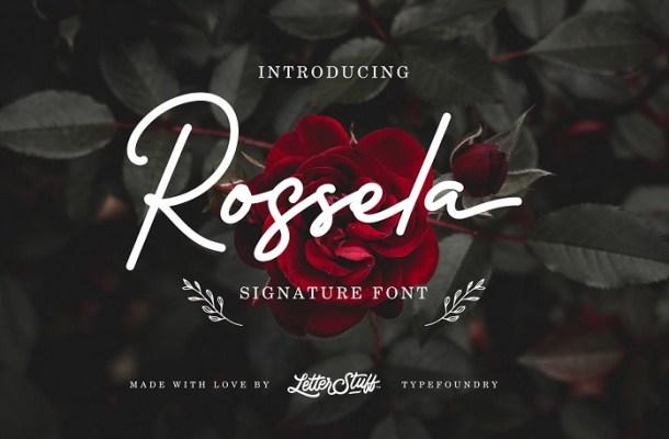 Rossela Signature Font