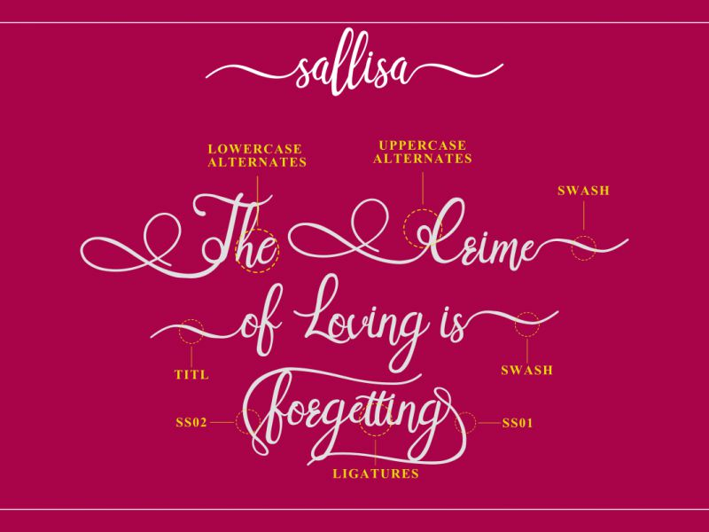 Sallisa Script Font-1