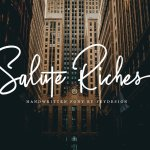 Salute Riches Handwritten Font
