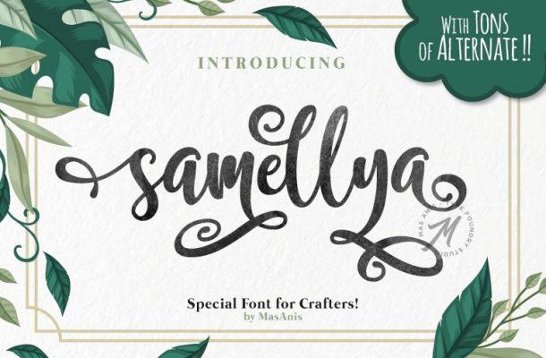 Samellya Script Font