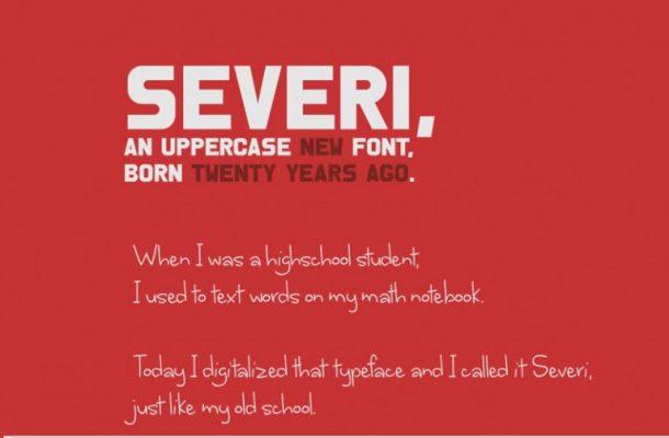 Severi Typeface