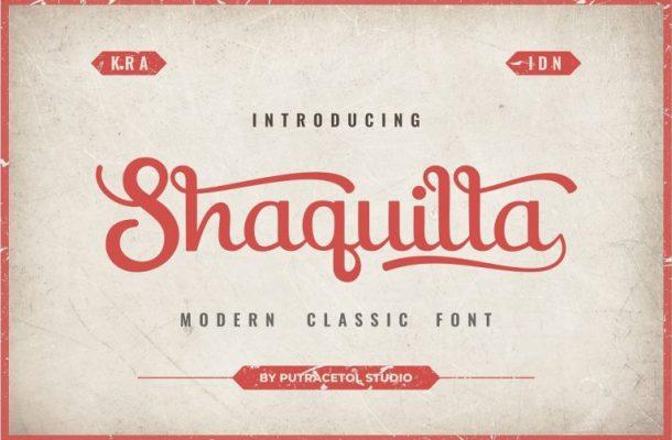 Shaquilla Script Font