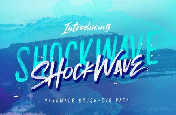 Shockwave Brush Font + SVG Pack