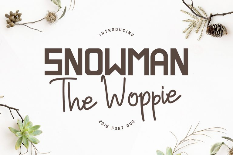 Snowman The Woppie Font Duo
