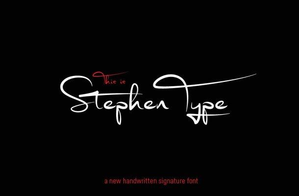 Stephen Type – Signature Font