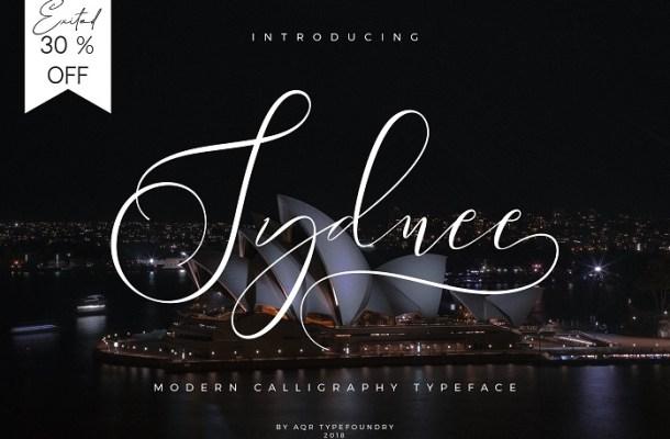 Sydnee Script Font