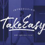 TakeEasy Brush Font