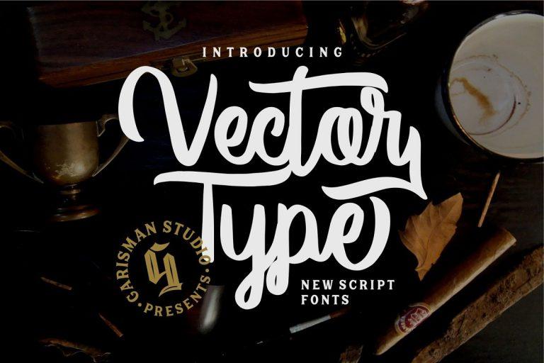 Vector Type Script Font-1