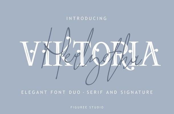 Viktoria Elegant Font Duo