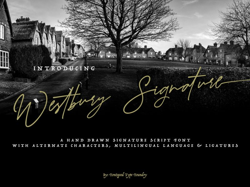 Westbury Signature Demo Font