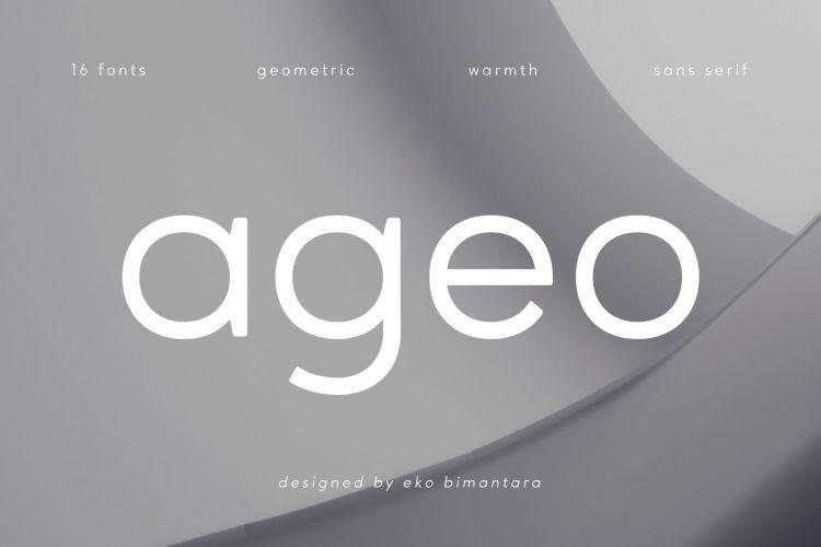 ageo-geometric-sans-fontfamily