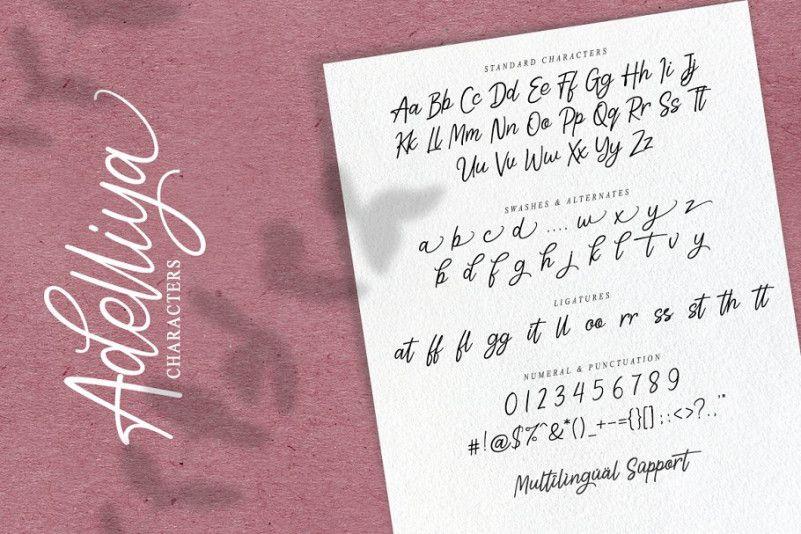 Adelliya Script Font-2