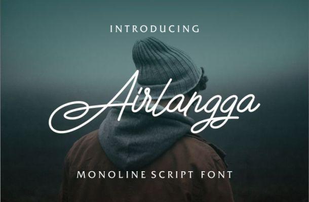 Airlangga Script Font