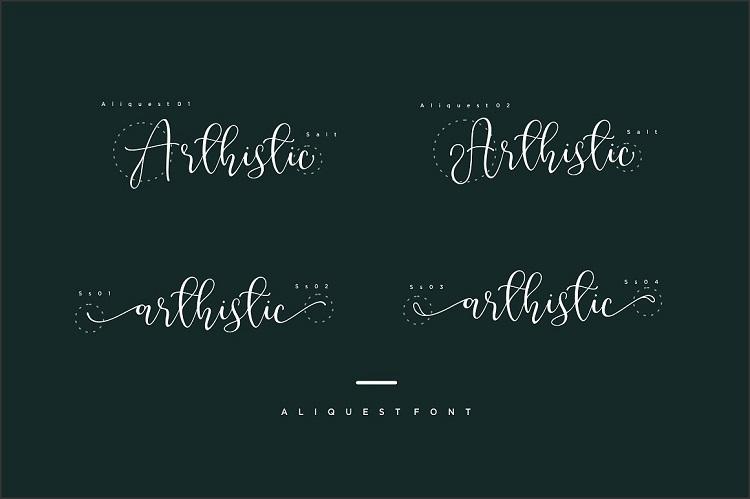 Aliquest Script Font-3