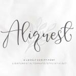 Aliquest Script Font