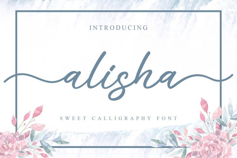 Alisha Sweet Calligraphy Font