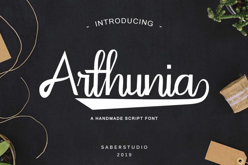 Arthunia Script Font