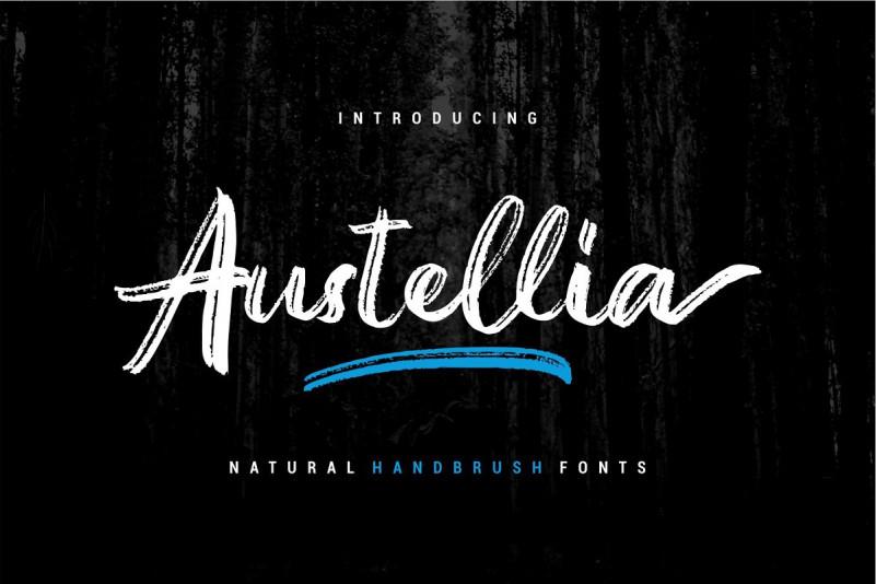 Austellia Handbrush Font
