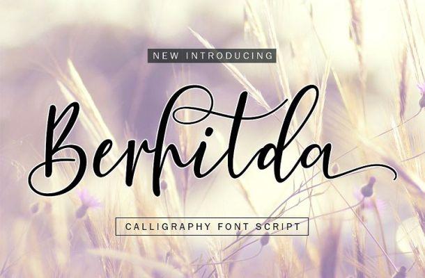 Berhilda Script Font