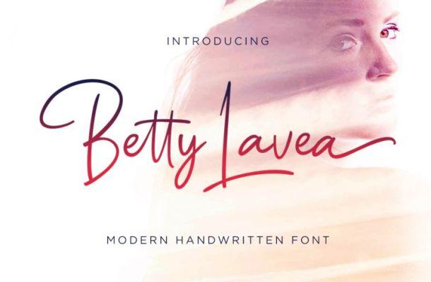 Betty Lavea Handwritten Font