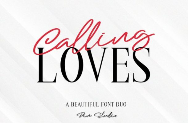 Calling Loves Font Duo