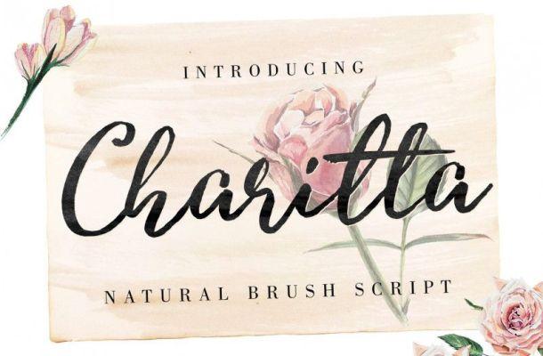 Charitta Organic Script Font