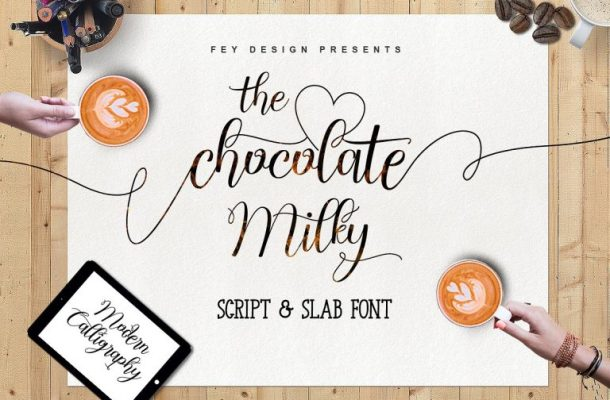 Chocolate Milky Script Font