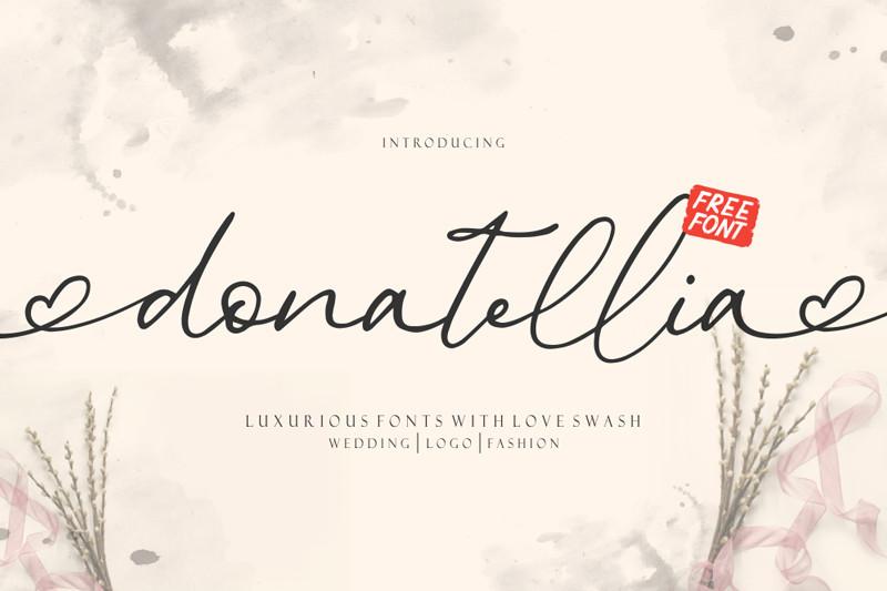 Donatellia Signature Font