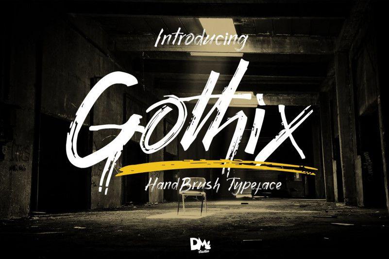 Gothix Hand Brush Font