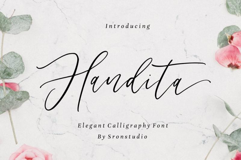 Handita Calligraphy Font