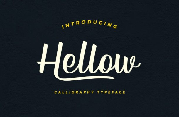 Hellow – Calligraphy Typeface