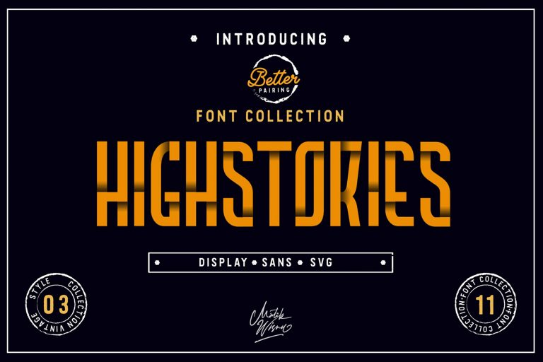 Highstories Font Family