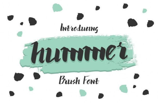 Hummer Brush Graffiti Font