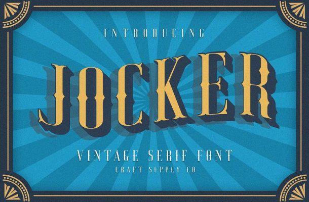 Jocker Vintage Font Family