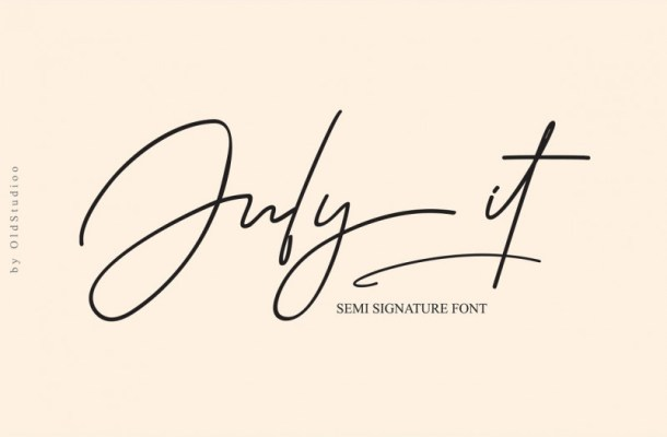 July it Signature Font
