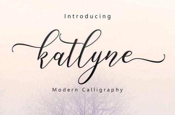 Katlyne Script Font