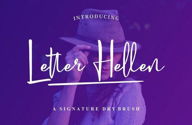 Letter Hellen Signature Font
