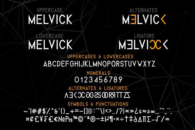 Melvick Font Family-2