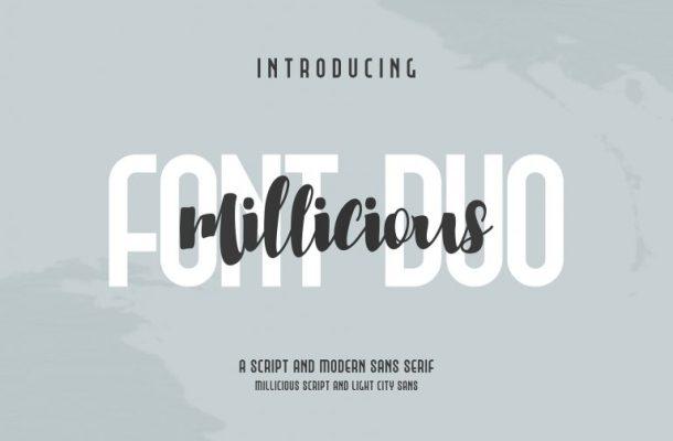 Millicious Brush Font