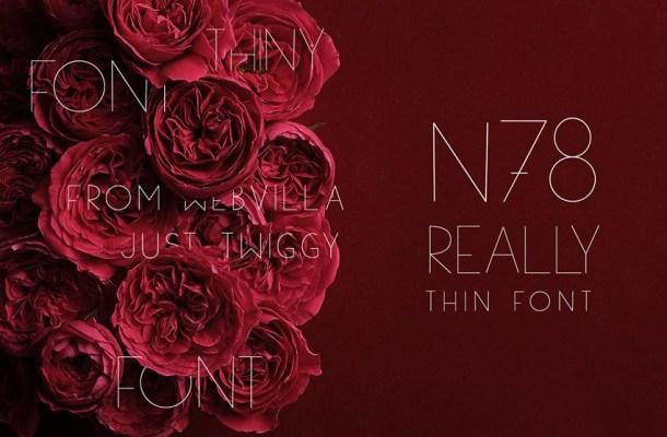 N78 Thin Font