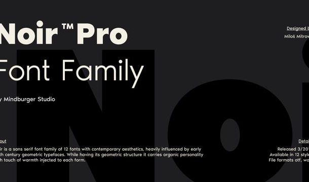 Noir Font Family