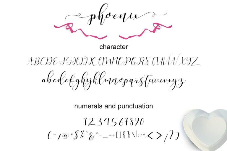 Phoenix Script Font-3