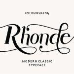 Rhonde Modern Typeface
