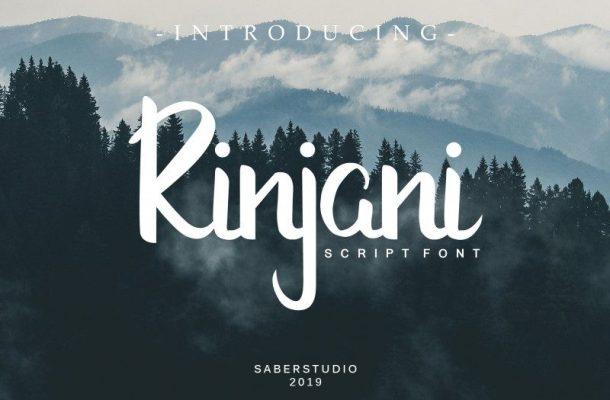 Rinjani Script Font