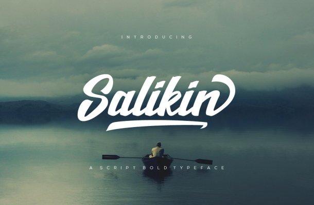 Salikin Bold Script Font